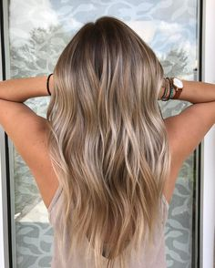 Balayage for blonde, dark brown, brown and light brown hair. Balayage for blonde, dark brown, brown and light brown hair. Bronde Balayage, Hair Color Balayage, Blonde Color, Ashy Blonde Highlights, Ashy Blonde Balayage, Hair Bayalage, Fall Balayage, Chunky Highlights, Caramel Balayage