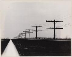 Monon railroad tracks, route of Lincoln's funeral train, 1964. David Plowden.