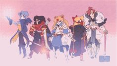 Sailor Moon and the Sailor Scouts have gone through their share of costume changes, but these tough, gorgeous, and just plain adorable fan redesigns go bit farther than we see in the comics, TV shows, and movies, giving us bikers, warriors, space adventurers, and punks all rooted in Usagi and her friends.