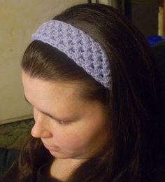 Free Crochet Star Stitch Headband Pattern.