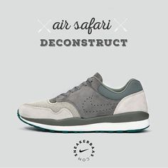 #airsafari #deconstruct #sneakerbaas #baasbovenbaas  Nike Air Safari Deconstruct- This Safari release is stripped from all unnecessary features, the result is a light-weight construction and a cool, inovative design. The Swoosh is perforated into the sidepanels and a the fresh colorway makes this sneaker a dope addition to your collection.  Now online available | Priced at 119.95 EU | Men Sizes 41 - 46 EU