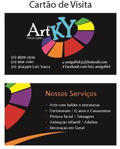 Criação do logotipo, criação do cartão e impressão