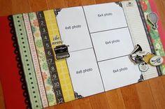 scrapbook layout sketch 5 photos