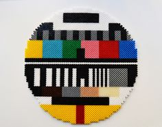 All right stop: Hama time! Testcard in Hama perler beads // A whole Lotte love