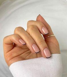 Classy Nails, Stylish Nails, Simple Nails, Cute Nails, Pretty Nails, Minimalist Nails, Hair And Nails, My Nails, Natural Nail Designs