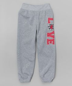 Another great find on #zulily! Gray 'Love' Sweatpants - Girls #zulilyfinds