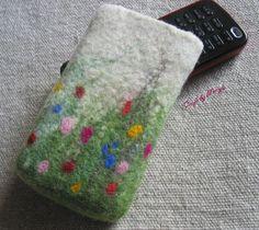 $18 Felt phone pouch
