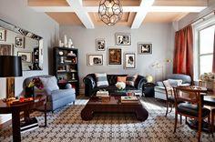 20 Attractive Black Sofa Living Room | Home Design Lover