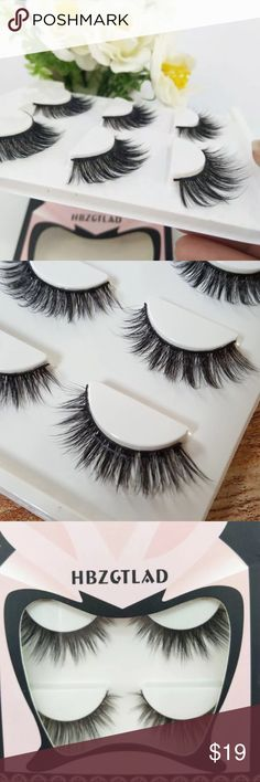 6 Pairs of Red Cherry false lashes #100 Lot of 6 Red Cherry false ...