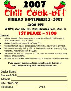 free chili cook off score card scores chili soup and. Black Bedroom Furniture Sets. Home Design Ideas