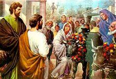 Pablo y Bernabe evangelizando