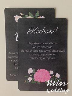 Malowane kwiaty - zaproszenia i zawiadomienia -  projekt, wykonanie, zdjęcie: minwedding