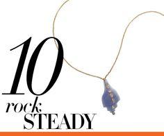 Dezso by Sara Beltran tanzanite shell with polki diamond pendant necklace