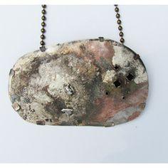 Roxy Lentz pendant of repurposed material.
