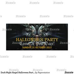 Dark Night Angel Halloween Party Invitation Adult Halloween Invitations, Dark Night, Custom Invitations, Paper Texture, Smudging, Keep It Cleaner, Angel, Writing, Prints