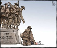 Bruce MacKinnon cartoon paying tribute to Cpl Nathan Cirillo killed in the line of duty by a terrorist,