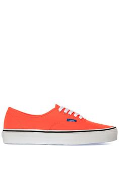 Vans Authentic in Neon Coral and French Blue $41 at Karmaloop  #vans #sneakers #kicks #shoes #fall14 #style #skate #fashion #coral
