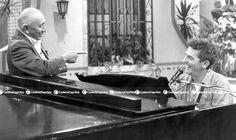 Simón Díaz, músico, compositor e intérprete del género popular venezolano junto a Ilan Chester. Foto: Fabián Medina/Cadena Capriles