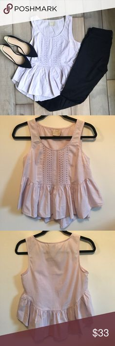 Anthropologie Lavender Peplum Tank Great condition! Price is negotiable, just make me an offer! Anthropologie Tops Blouses