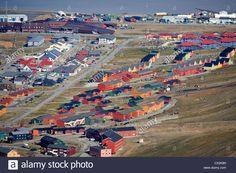The Town Longyearbyen, Capital Of Svalbard, Spitsbergen, Norway ...
