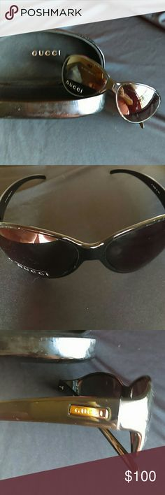 Gucci Sunglasses Black aviator style.  Can be used as frames for prescription.  Gucci box uncluded Gucci Accessories Glasses