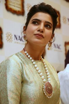 Jewellery Archives - Centrefashion's Fashion Jewellery, Designer Sarees & Designer Blouses for Women Samantha In Saree, Samantha Pics, Samantha Ruth, Jewelry Model, Celebs, Celebrities, India Beauty, A 17, Simple Dresses