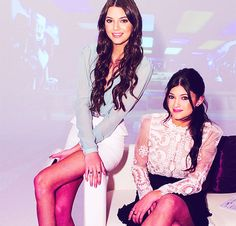 Kendall and Kylie Jenner love their hair and outfits.