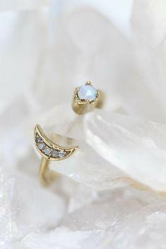 Moon Mania Stud Earrings