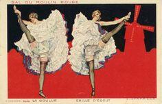"""CHAZELLE Albert Bal du Moulin Rouge La Goulue - Grille d'Egout Editeur : H. Chachoin, """"Succès""""."""