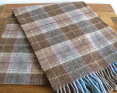 Vintage Women's Plaid Lambswool Scarf-Ireland by MarketHome on Etsy, $22.00