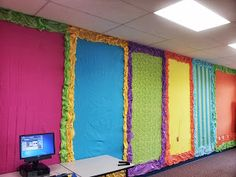 Where Learning is FUN!: Colorful Bulletin Boards, sheets and plastic tablecloths