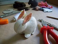 Felt bunny tutorial.  It is in Italian but it has lots of pictures so you could figure it out. I use Google Chrome which has an auto translate option that's helpful.