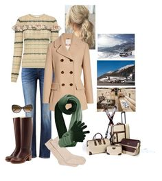"""""""King Nicolas, Queen Rose et theirs children  travel to the Swiss Alps to go skiing for the weekend."""" by hm-queen-rose ❤ liked on Polyvore featuring UGG, RED Valentino, A.P.C., Kate Spade and Roberto Cavalli"""