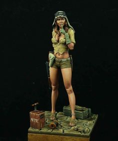 SAS GIRL painted by Jorge Angel Fano Size: 70mm