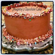 Magleby's Chocolate Cake... this cake is AMAZING (especially with my mom's milk chocolate frosting)