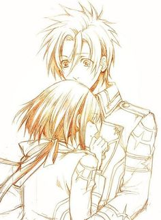 Apollon and Yui. -- Anime, Kamigami no Asobi, characters, cute romantic relationship, couple, fan art