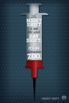 When the sun goes down the intensity rises. The Night Shift is unlike anything else. Mondays at on NBC. Love My Job, Get The Job, Nerd Stuff, Funny Stuff, Night Shift Tv, Code Black, Netflix And Chill, Gypsy Soul, First They Came