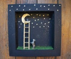 MOON & WOOD: Little mouse on the moon