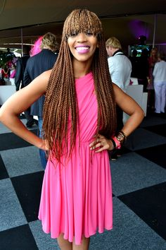 Poppy Ntshongwana, fringe box braids