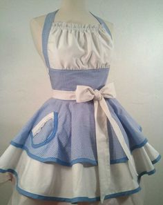 Dorothy In Oz Pin Up Apron, Costume. $65.00, via Etsy.