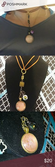 Unique handmade choker Choker with cleavage catcher. Just a dash oj purple with copper. Jewelry Necklaces