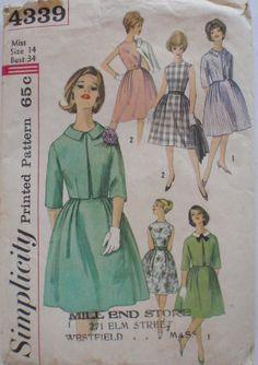Women's Vintage Pattern  1960's One Piece Dress by Shelleyville, $10.00