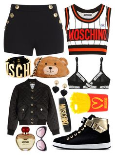 """""""Moschino """" by elliemi on Polyvore featuring Mode, Moschino, Boutique Moschino und Love Moschino"""