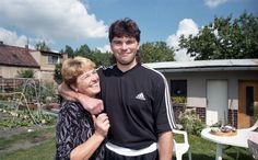 Jagr and his mom