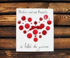 Muttertagskarte Knöpfe