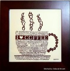 Lets do Coffee cross stitch pattern, designed by Ursula Michael