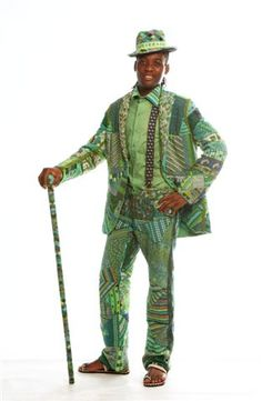 A 'Dreams for Africa' project - this suit is completely beaded - each panel was made by a different crafter.