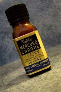 "Any time we got a cut, Daddy would put mercurochrome on it and say, ""Blow on it!"" We always cried because it stung!"