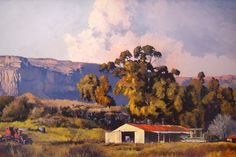 Ted Hoefsloot - Farm Near Clarens x South African Art, African Artists, Landscape Art, Ted, Art Gallery, Scene, Landscapes, Drawings, Places