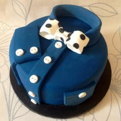 Shirt & Bow Tie cake! by She Who Bakes